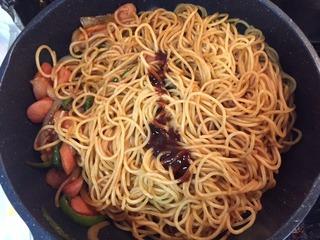 スパゲッティ投入