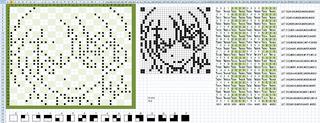 ドット絵変換用方眼紙エクセル